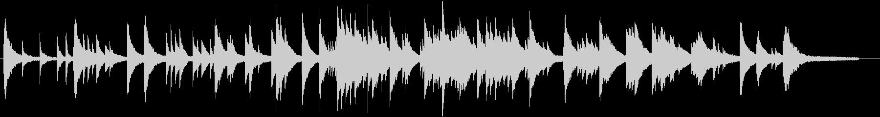 音の粒がしっかりしているピアノ・ソロ曲の未再生の波形
