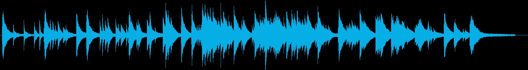 音の粒がしっかりしているピアノソロ曲の再生済みの波形