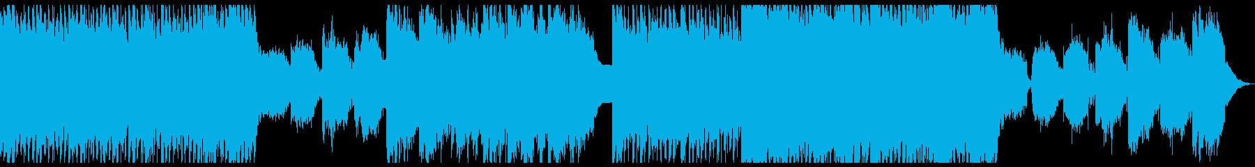 風変わりなエレクトロニカのテーマの再生済みの波形