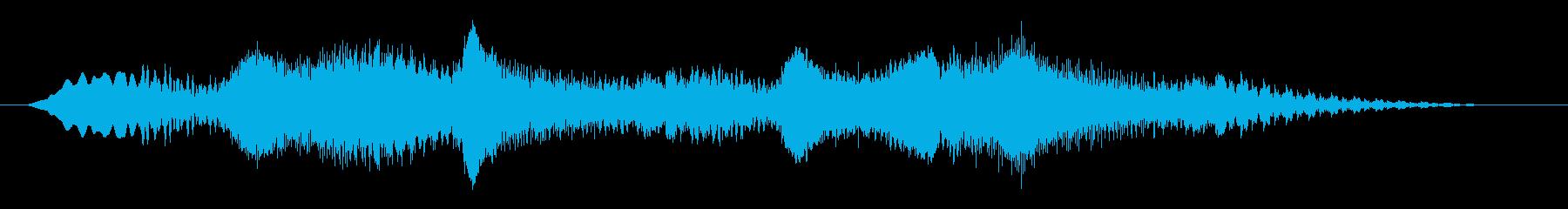 素材 揺れるドローン01の再生済みの波形