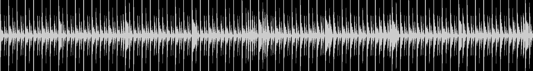 (Loop)ハウスのリズムトラックの未再生の波形