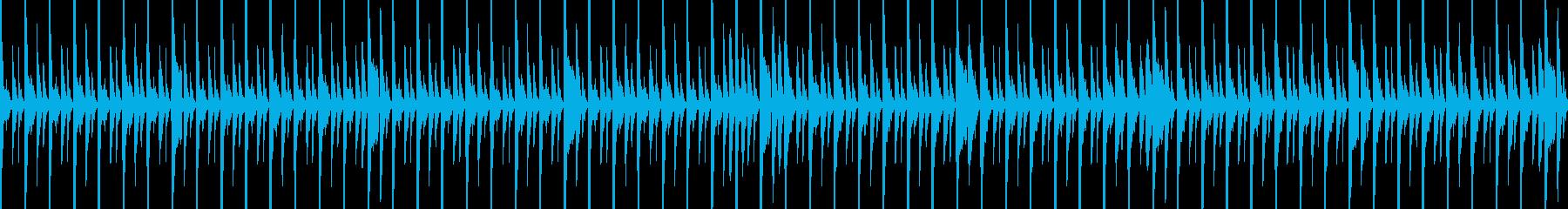 (Loop)ハウスのリズムトラックの再生済みの波形