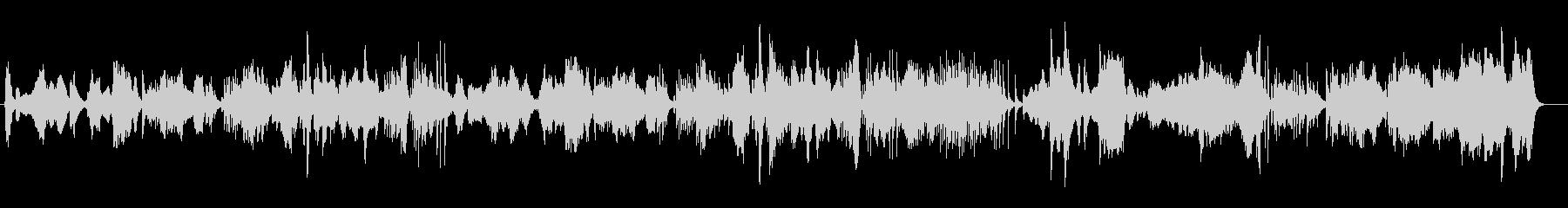 伝統的な日本の音楽をイメージした楽曲の未再生の波形