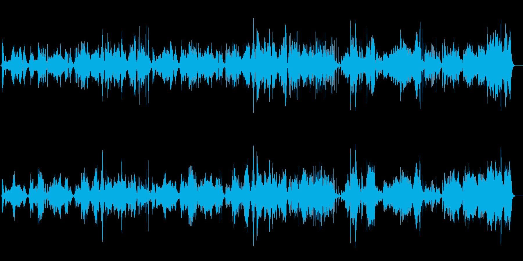 伝統的な日本の音楽をイメージした楽曲の再生済みの波形