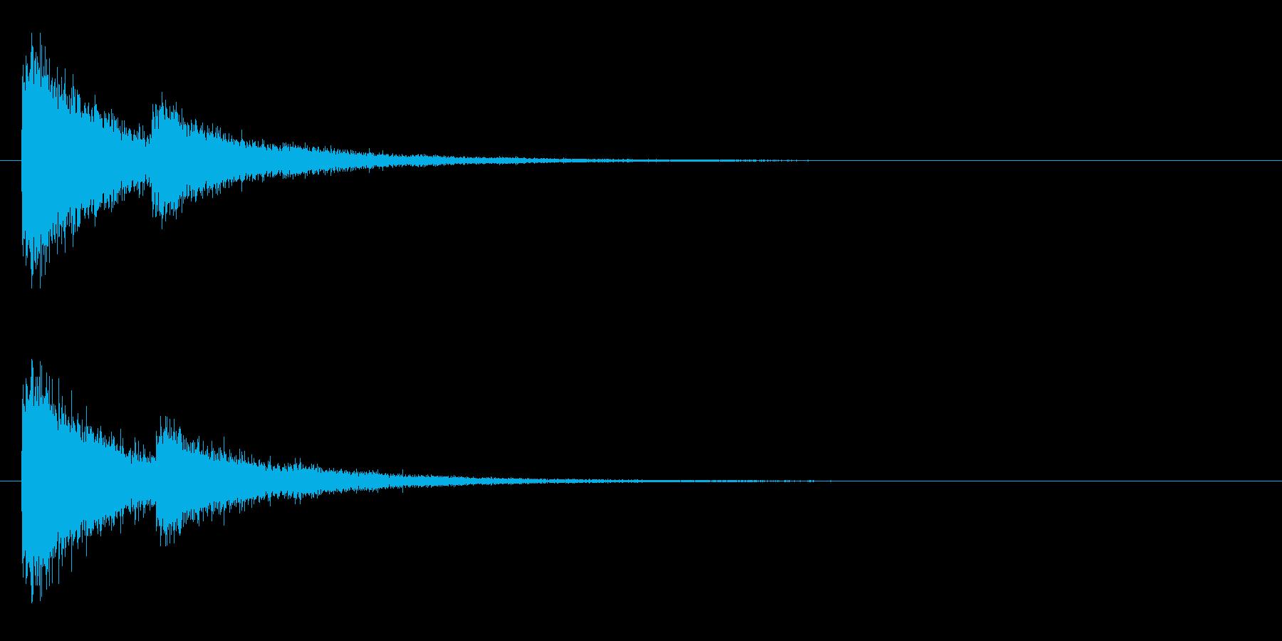 レーザー音-10-2の再生済みの波形