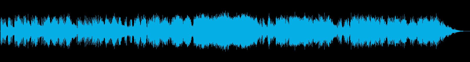 静かなピアノ即興演奏の再生済みの波形