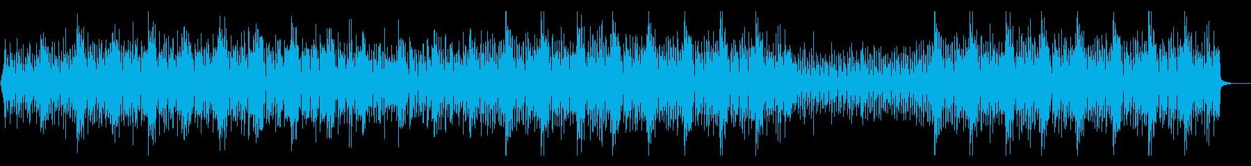 ウクレレとチェロの軽快なアンサンブルの再生済みの波形