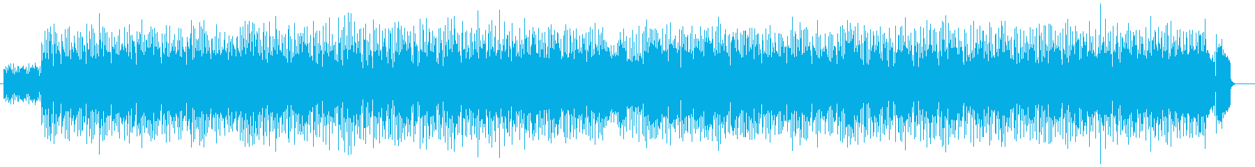 Up-tempo synthesizer song's reproduced waveform
