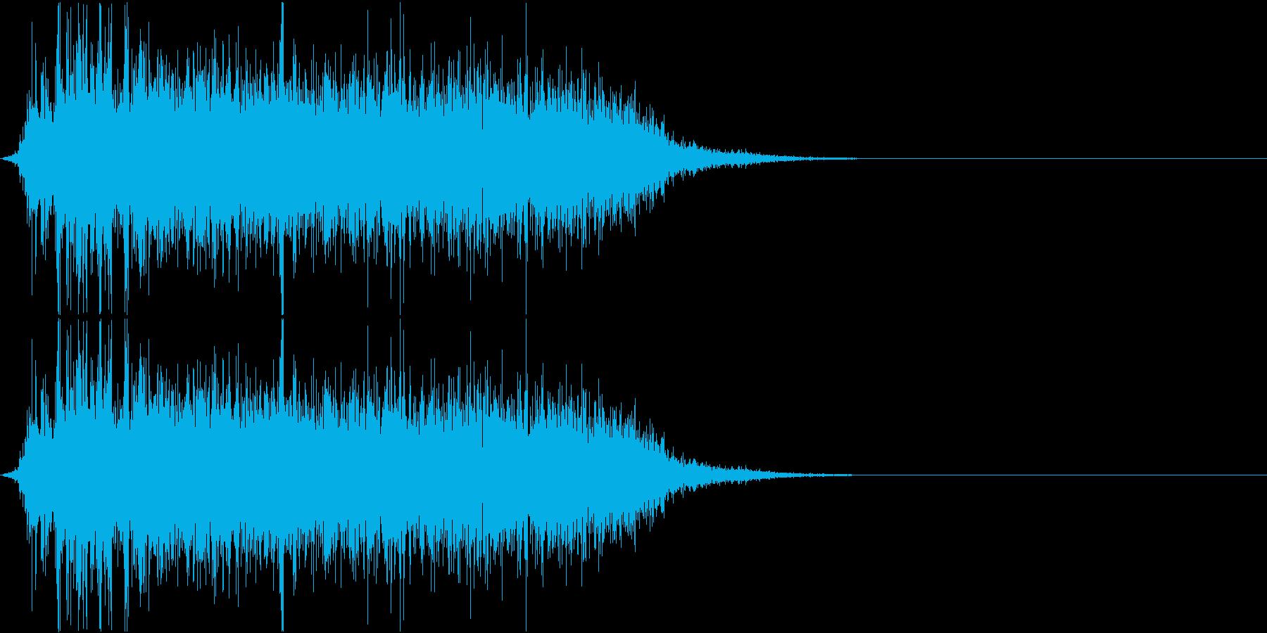 巨大な魚が泳ぐ音の再生済みの波形