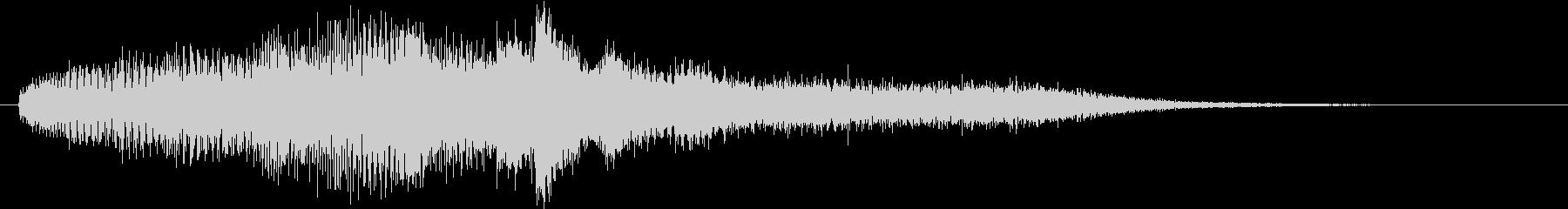 タイトル用サウンド・サウンドロゴ風ピアノの未再生の波形