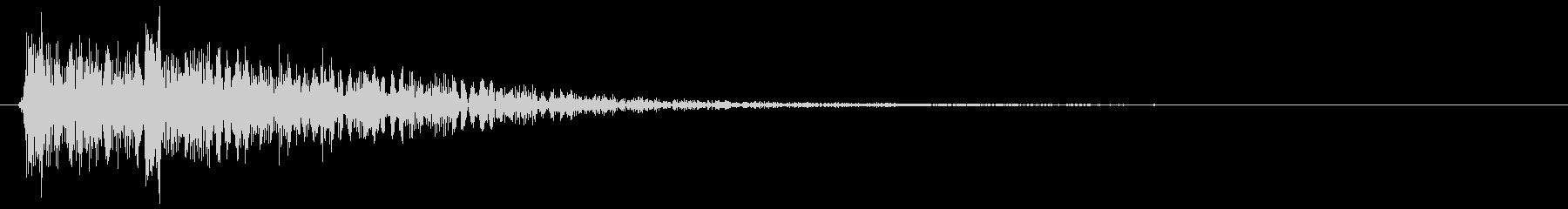 ポテン ピロン(クリアーな音質の効果音)の未再生の波形