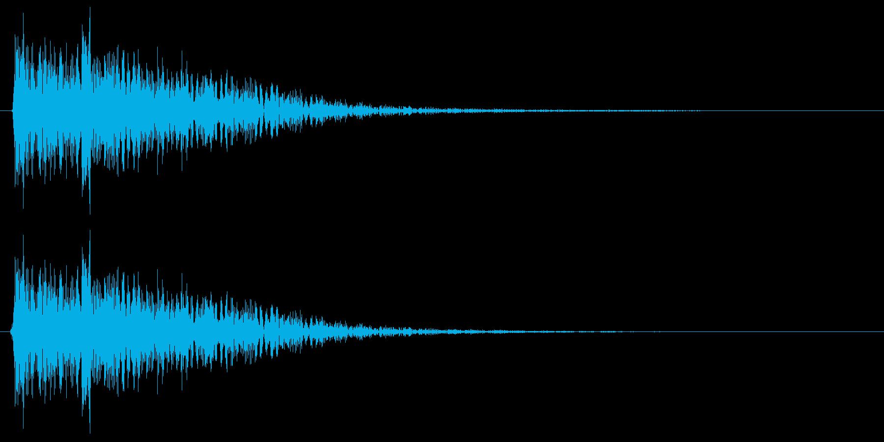 ポテン ピロン(クリアーな音質の効果音)の再生済みの波形