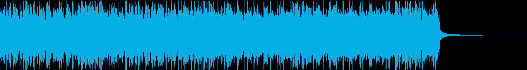 疾走感ある攻撃的なヘヴィメタルジングルの再生済みの波形