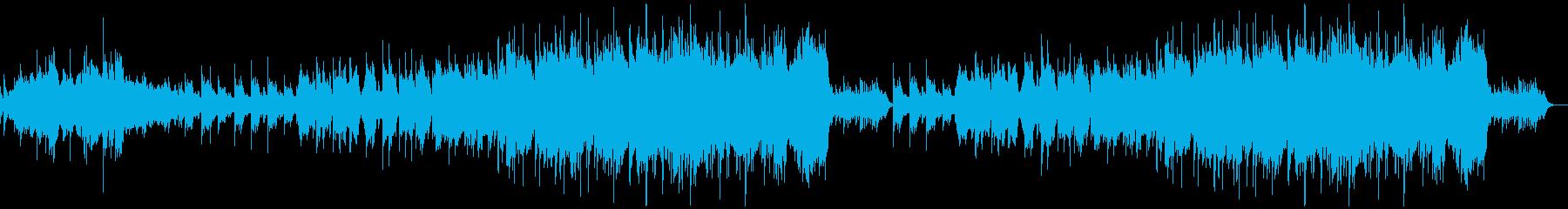 エンディング向けなピアノオーケストラの再生済みの波形