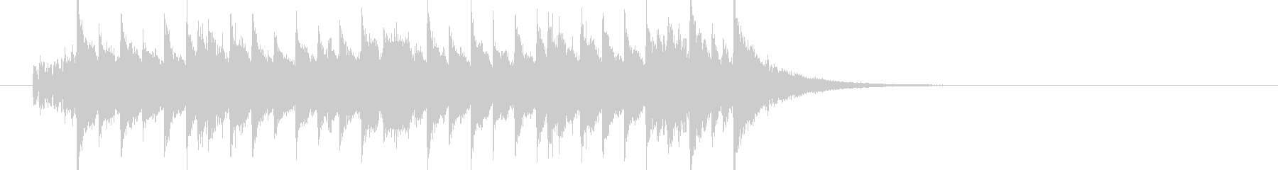 キラキラポップなマーチ風ジングル(M)の未再生の波形