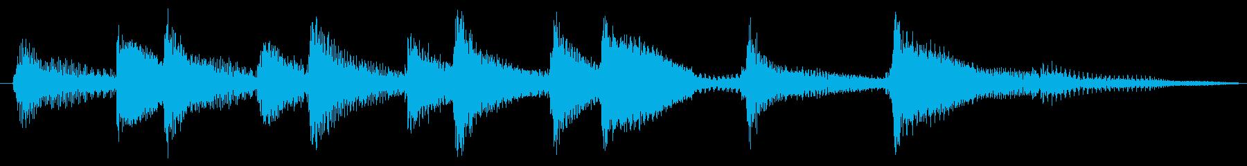 Summer / Okinawa / Japanese style / Sanshin jingle's reproduced waveform