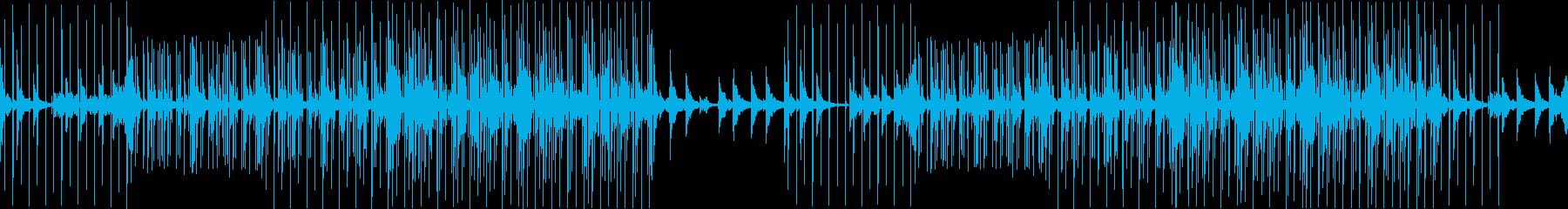 実験的な電子機器で怠惰な曲の再生済みの波形