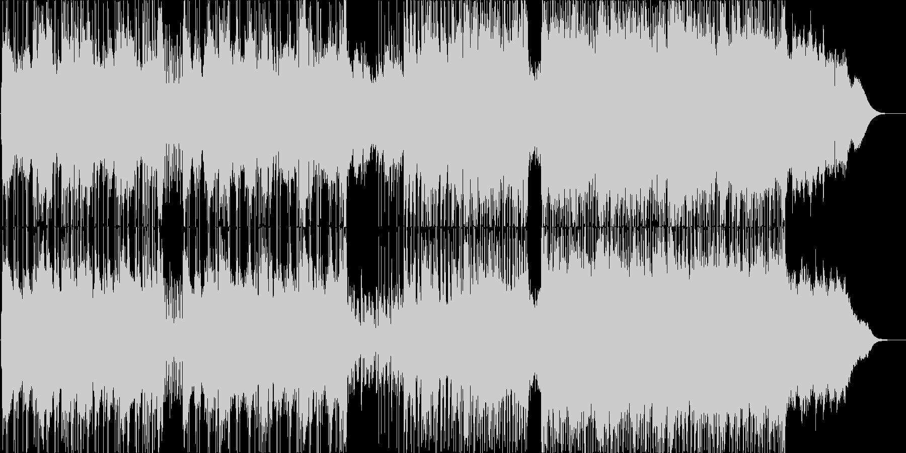 テクニカルでクールな雰囲気のポストロックの未再生の波形