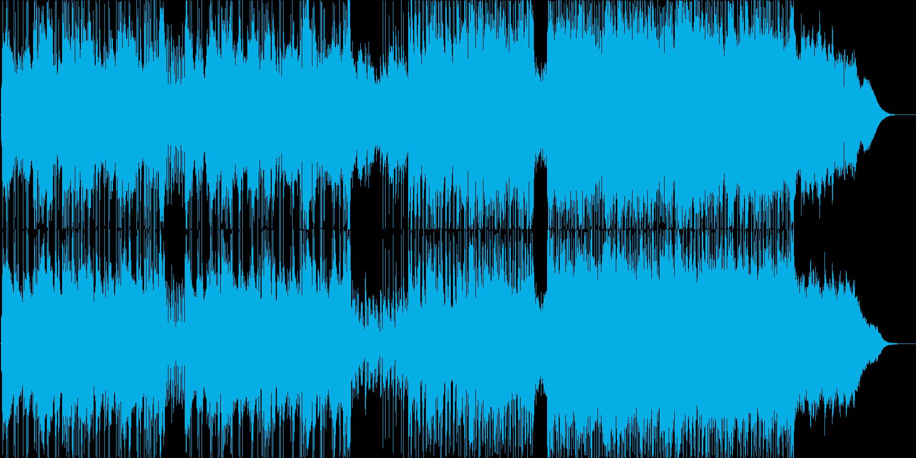 テクニカルでクールな雰囲気のポストロックの再生済みの波形