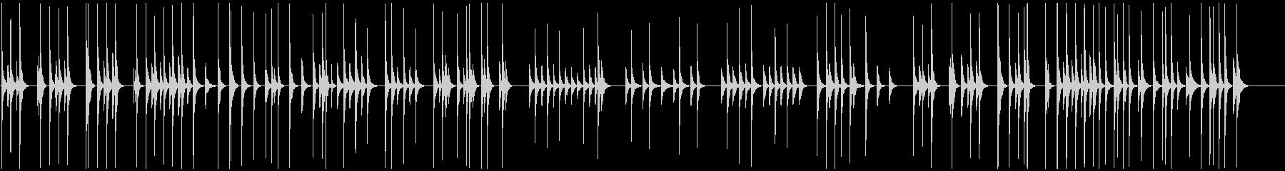 ほのぼの木琴の明るく遊びある素朴と愛嬌の未再生の波形