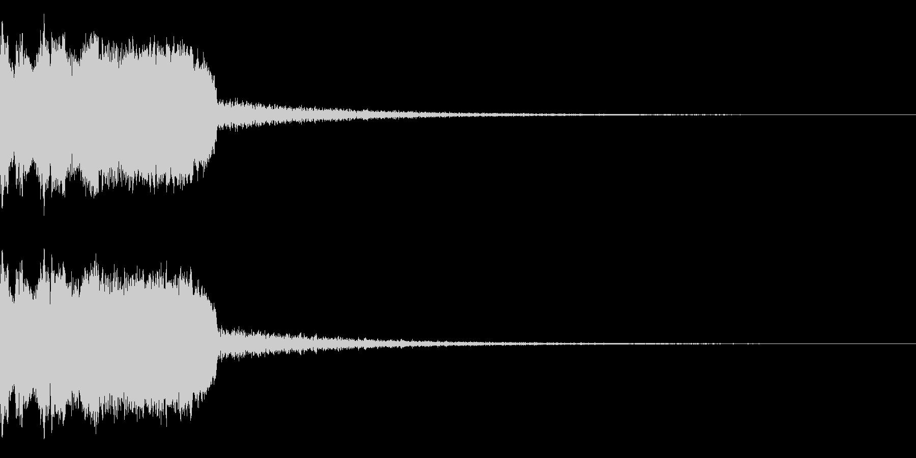 DJFX ヒットチャート発表前SE 9の未再生の波形