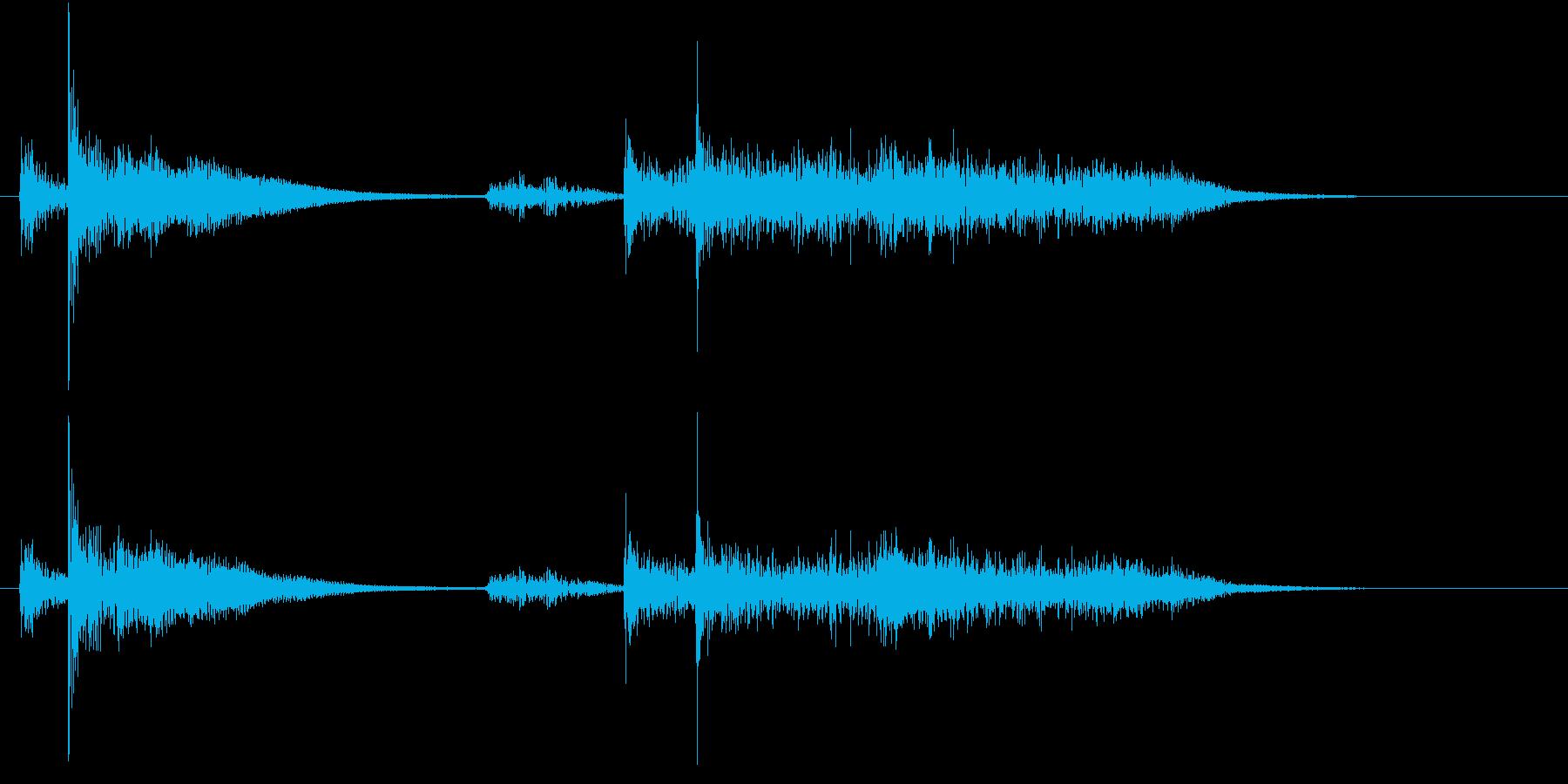 【生録音】お箸の音 55 丼の上に置くの再生済みの波形