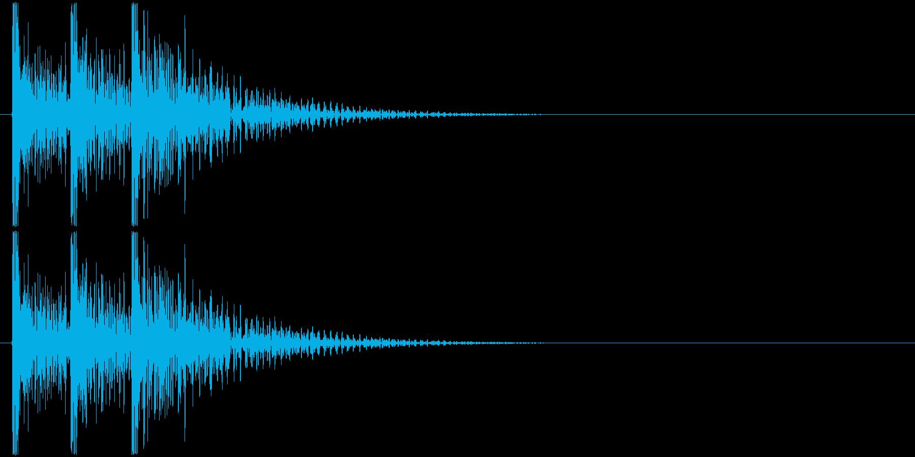 ドンドンドン! (扉をノック・3回)-Bの再生済みの波形