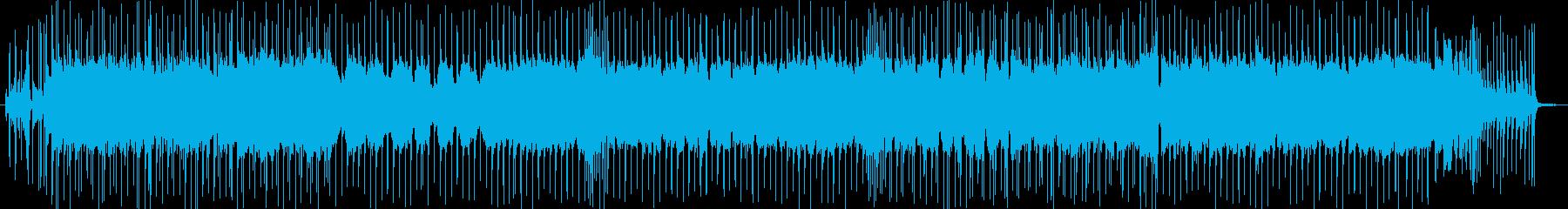 ブルースロック・ギターインストの再生済みの波形