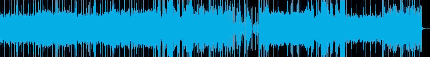緊迫感のあるエレクトロビートの再生済みの波形