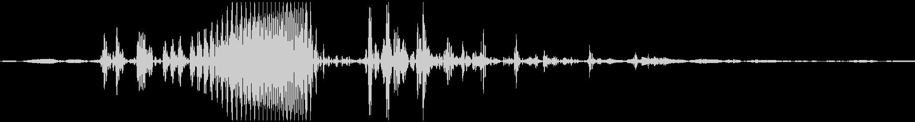 ゴクン 喉の音2の未再生の波形