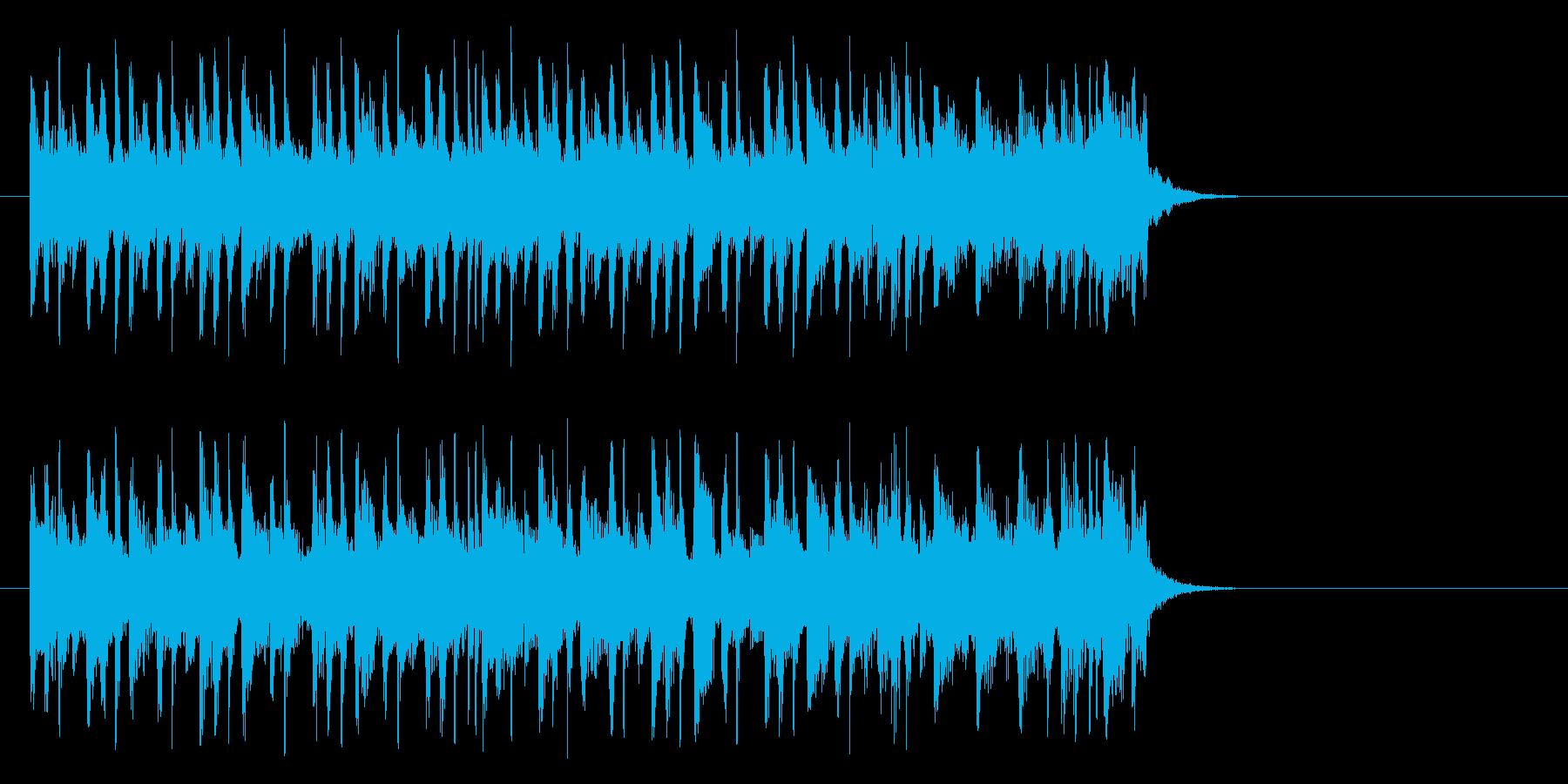 淡々としたポップ(サビ)の再生済みの波形