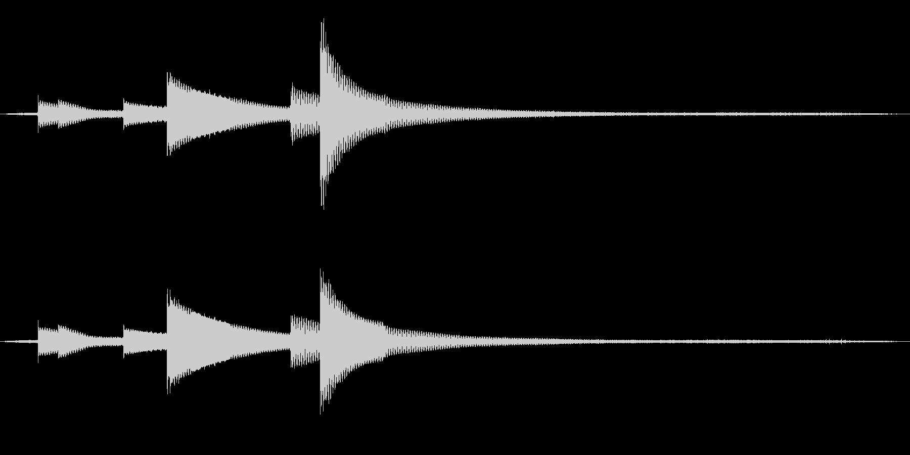 風鈴と鳥と虫の音 02の未再生の波形