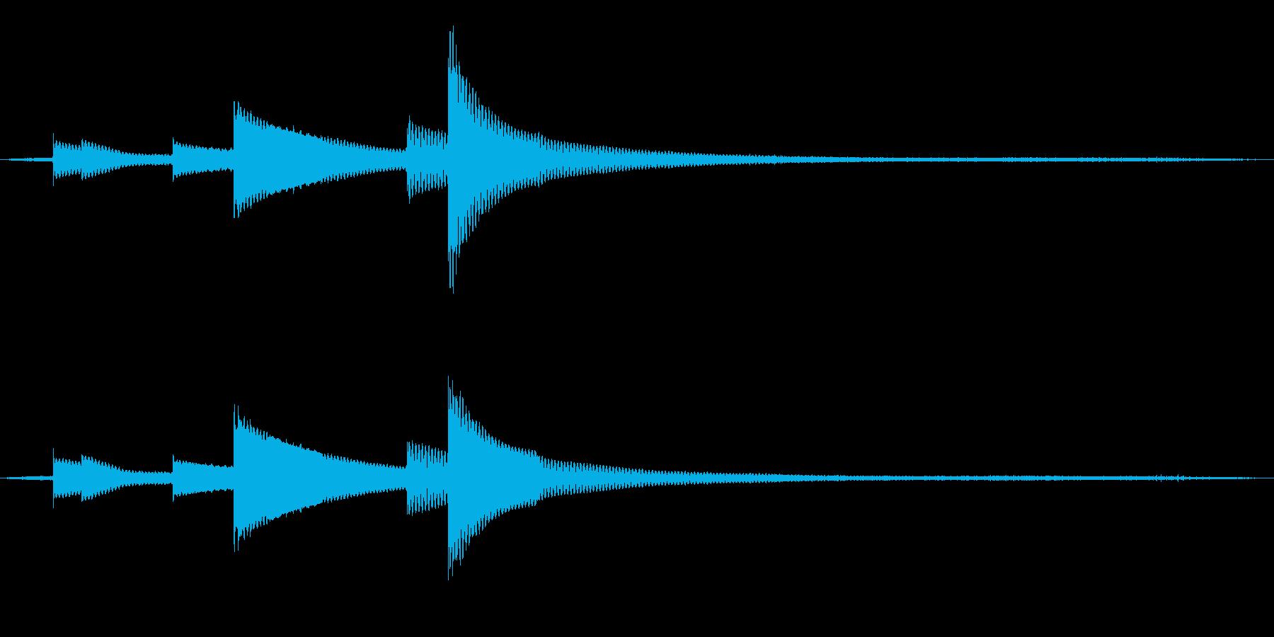 風鈴と鳥と虫の音 02の再生済みの波形