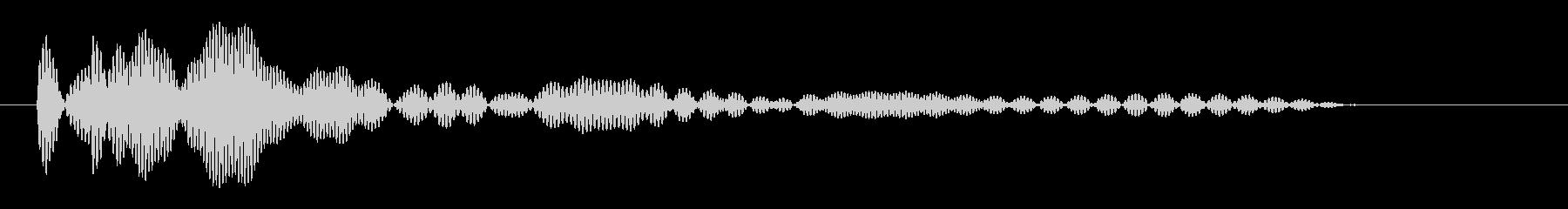 立体的に響く印象の音の未再生の波形