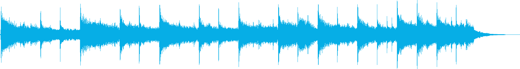 切ない雰囲気のバラードジングルの再生済みの波形