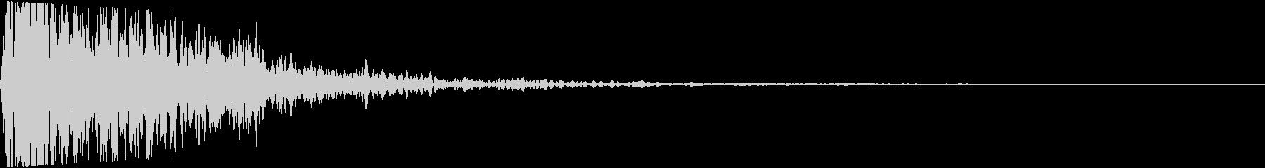 【大迫力】大砲を撃つ音2 ズドーン!!の未再生の波形
