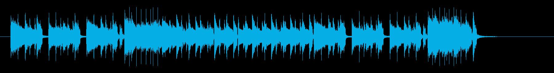 アップテンポの季節感あるドラムの曲の再生済みの波形