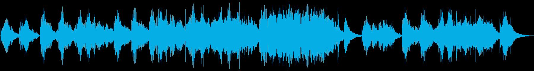 雨 しっとりした静かなピアノBGMの再生済みの波形