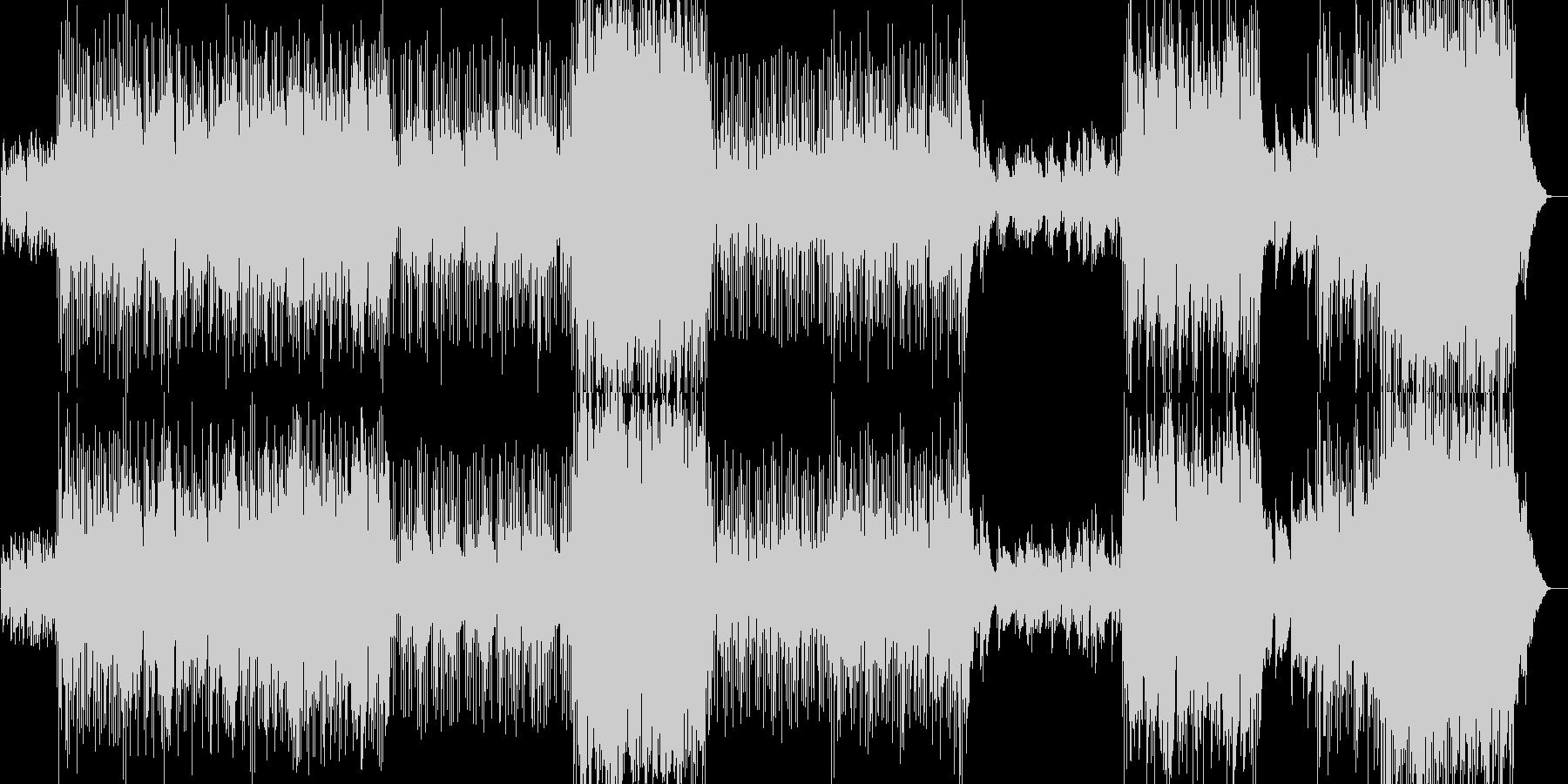 朝の爽やかなイメージのゆったり曲の未再生の波形