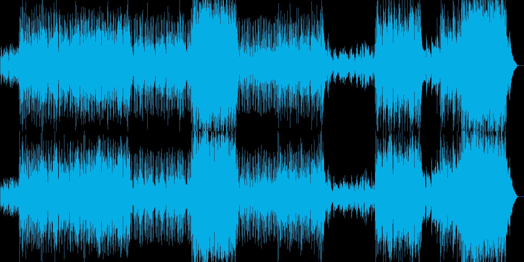 朝の爽やかなイメージのゆったり曲の再生済みの波形