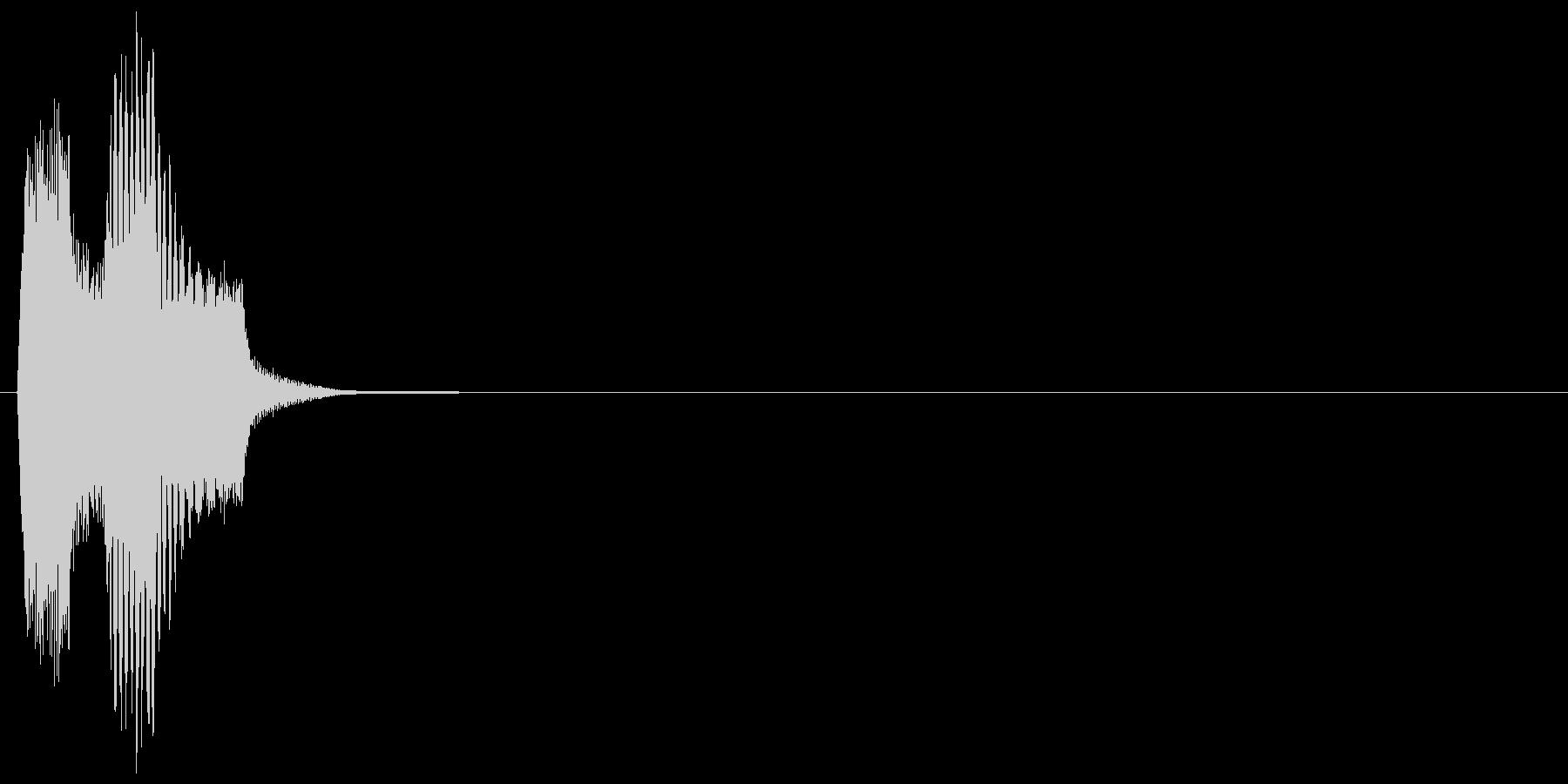決定_タップ_クリック_200705の未再生の波形