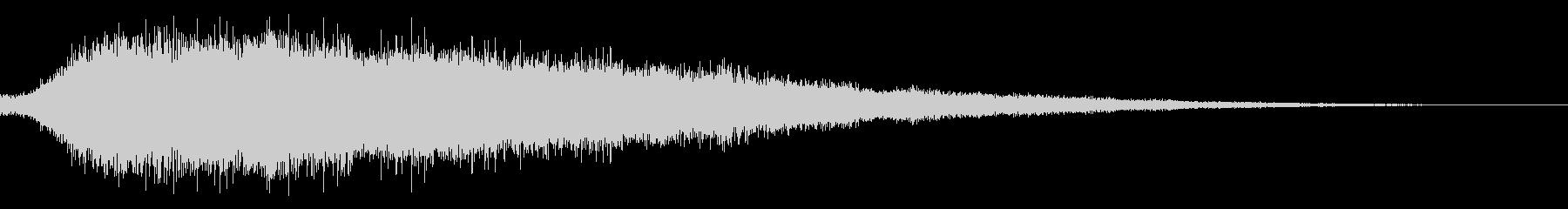 ひゅーんという飛行機の音の未再生の波形