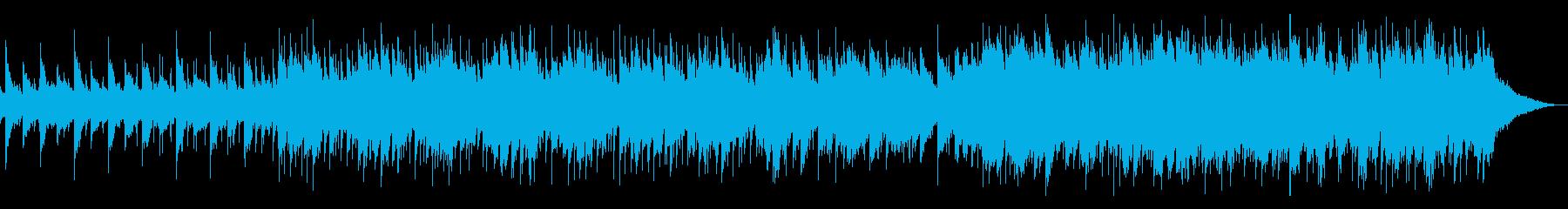 神秘的な雰囲気の民族風楽曲の再生済みの波形
