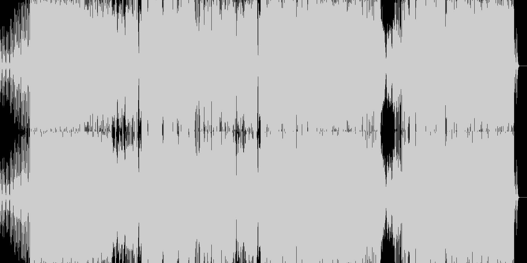 幻想的なフレーズから始まるロックEDMの未再生の波形