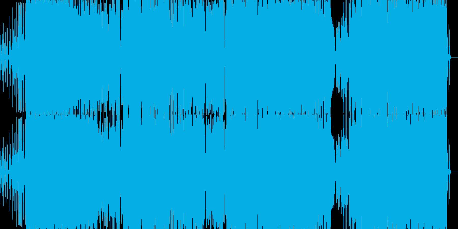 幻想的なフレーズから始まるロックEDMの再生済みの波形