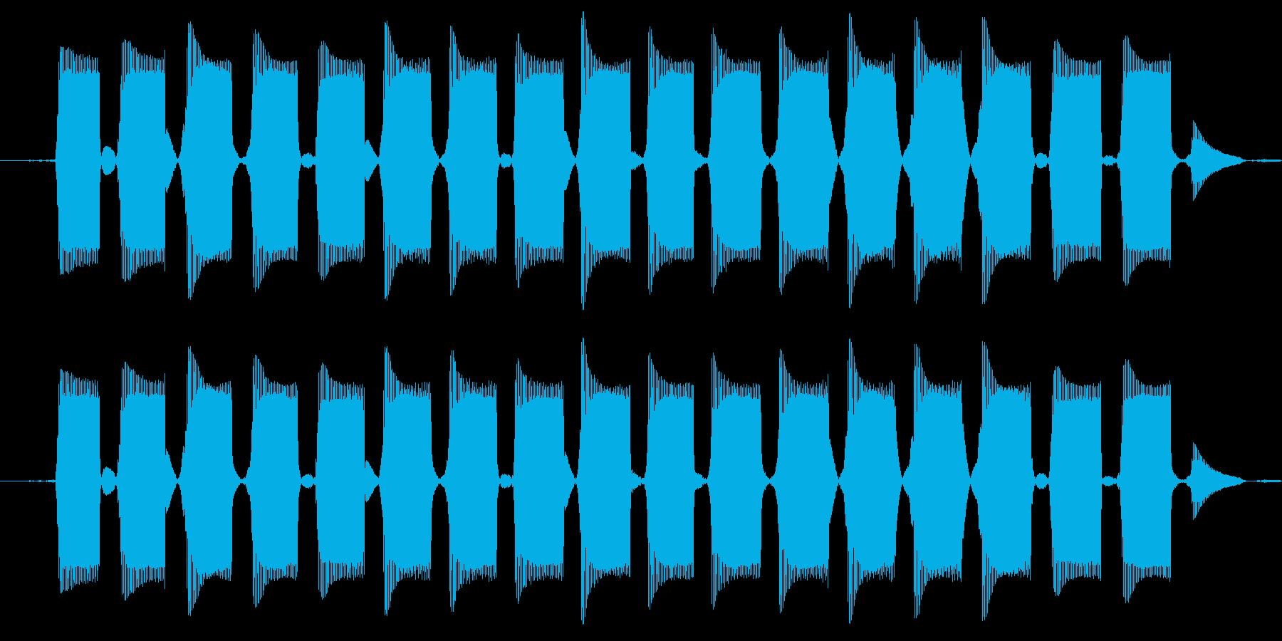 電話の音1より高めの電話の音ですの再生済みの波形
