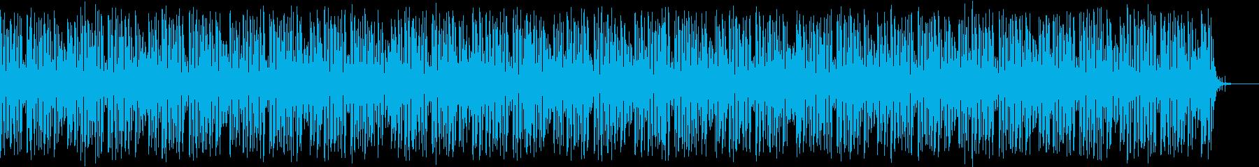 マイナーコードのお洒落なブルースBGMの再生済みの波形
