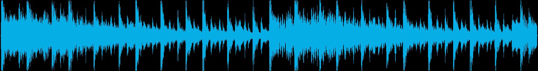 ドラムンベースを基本にした楽曲です。の再生済みの波形