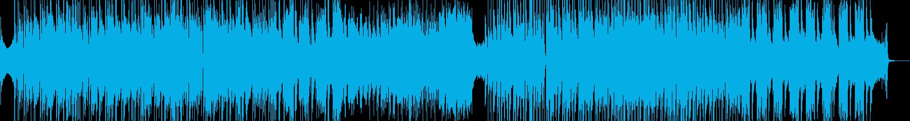 後半から高速・オシャレなビート感 短尺の再生済みの波形