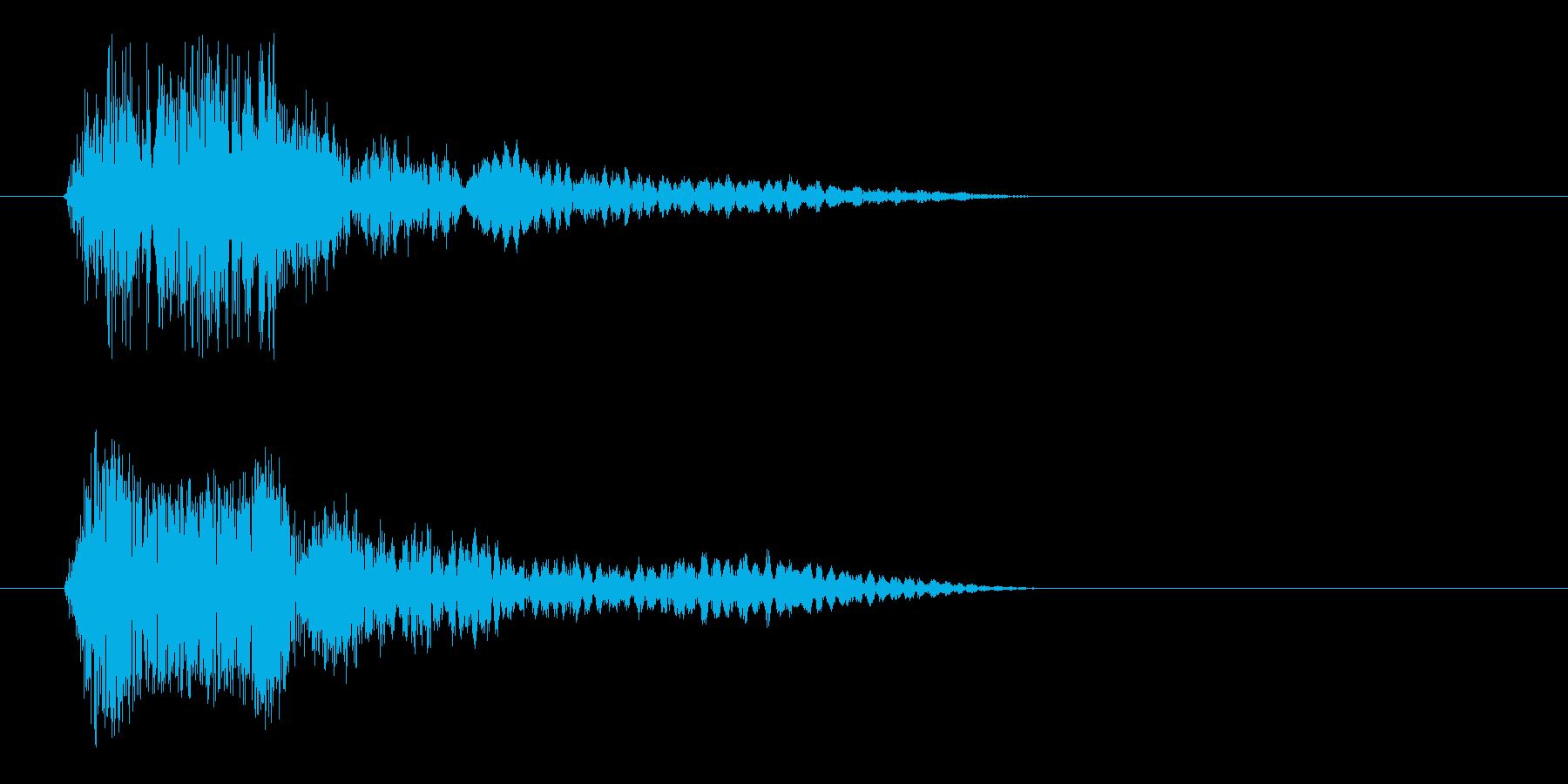キョン(不意打ちを付かれた音)の再生済みの波形